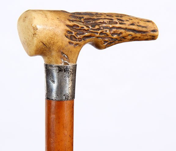 1. Stag Dress Cane- Ca. 1890- A well carved handle with