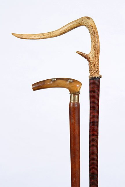 4. Two country Canes- Ca. 1900- A pair of country