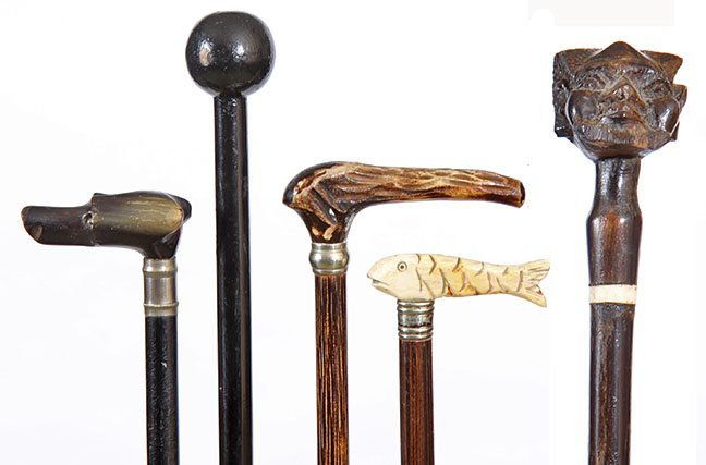19.Children's Cane Collection- Ca. 1900-1930- Five