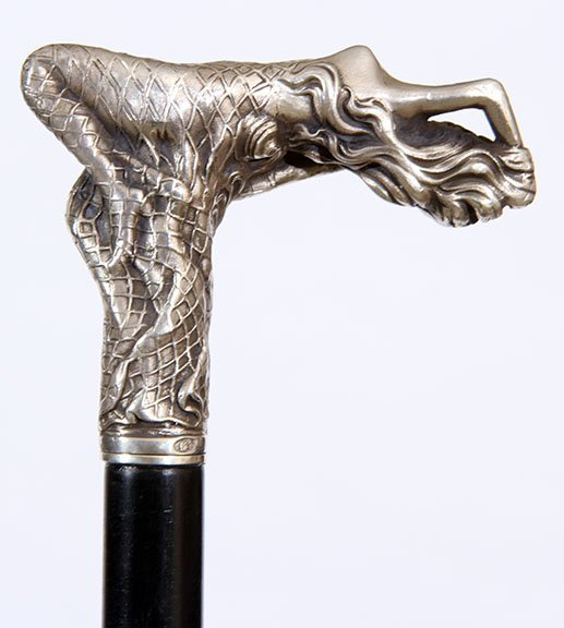 36. Erotic Sword Cane- 20th Century- A heavy cast - 2
