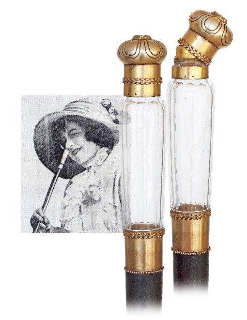 9. Perfume Bottle Cane-Ca. 1890-High-end dual purpose