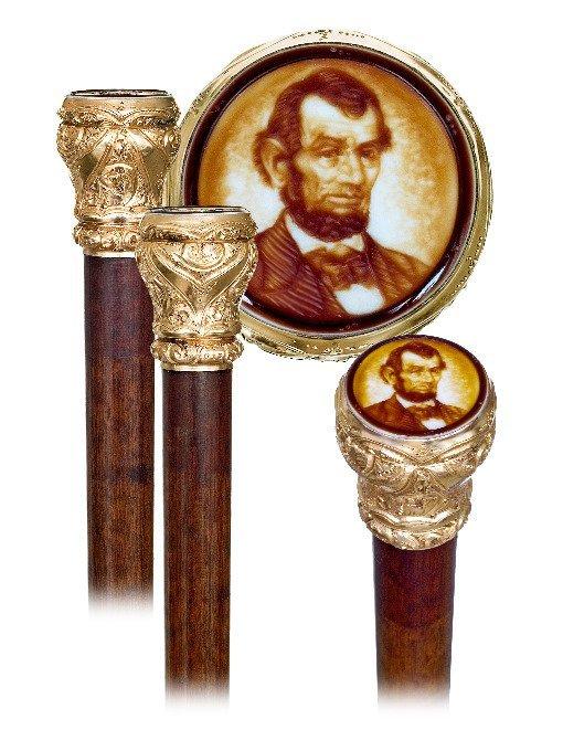 19. Abraham Lincoln American Historic Cane-Ca.