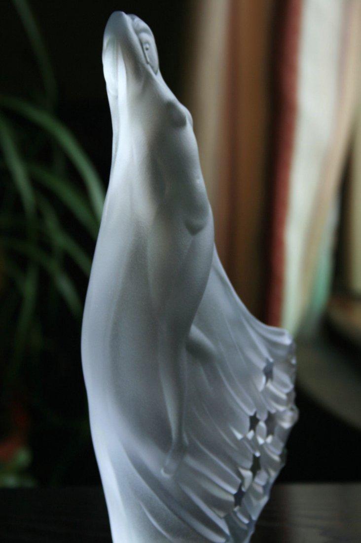 Bohemian Glass Statuette Nude Art Deco Ca.1930 - 4