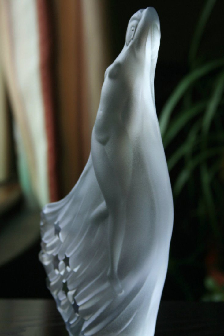 Bohemian Glass Statuette Nude Art Deco Ca.1930 - 5