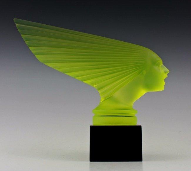 Glass Car Mascot / Victoire / Art Deco 1930 / Bohemian