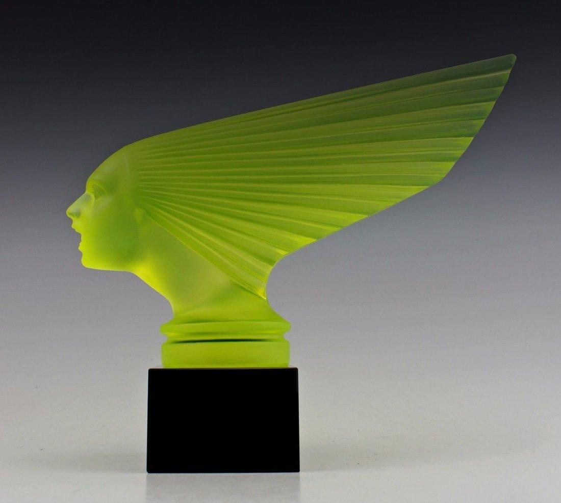 Glass Car Mascot / Victoire / Art Deco 1930 / Bohemian - 5