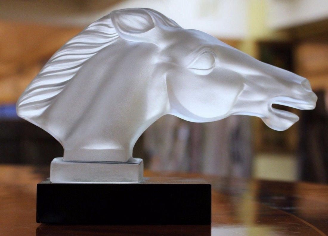 Bohemian Art Deco  Glass Car Mascot ' Horse '