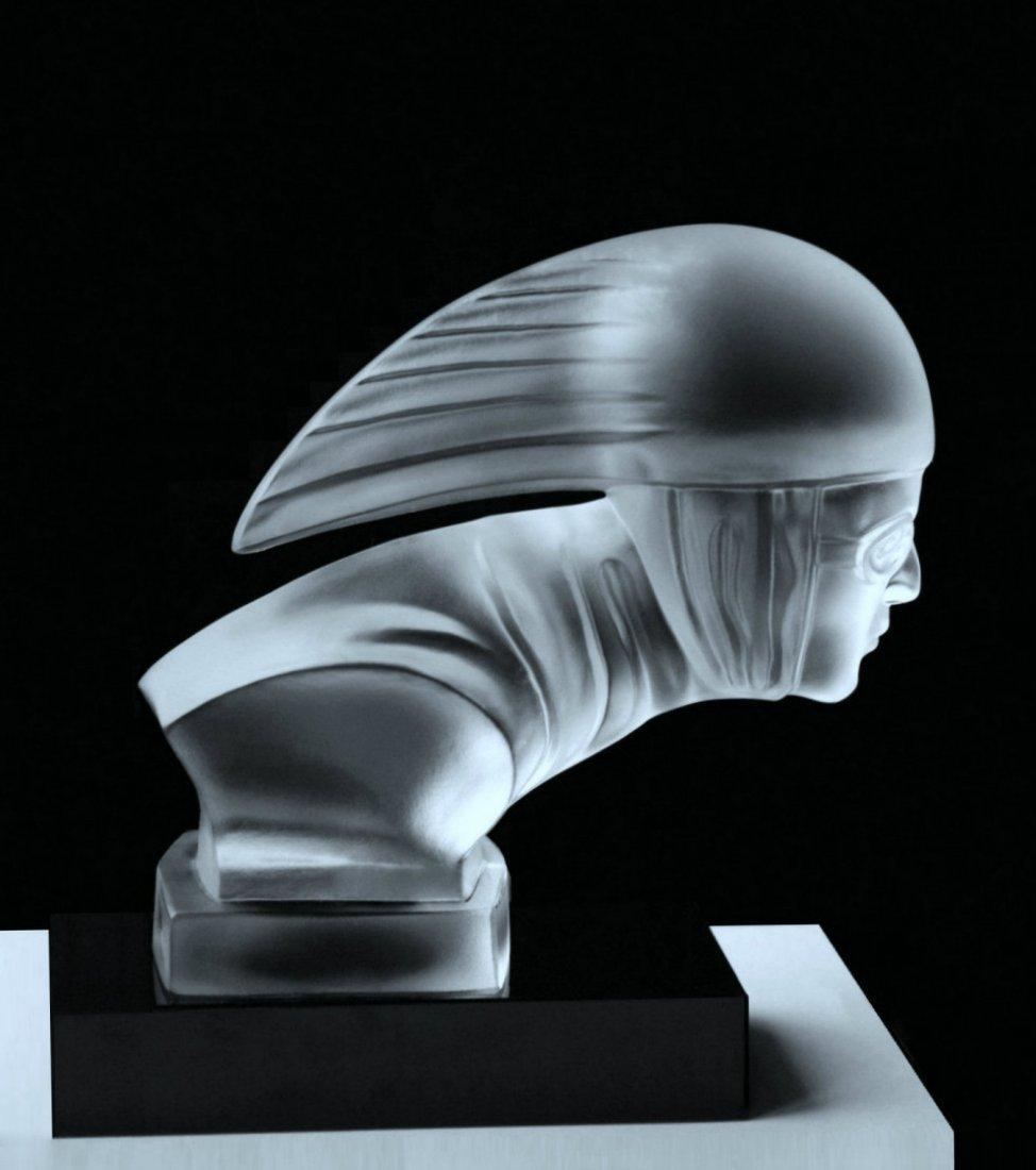 French Art Deco 1930 / Glass Car Mascot / Bohemia