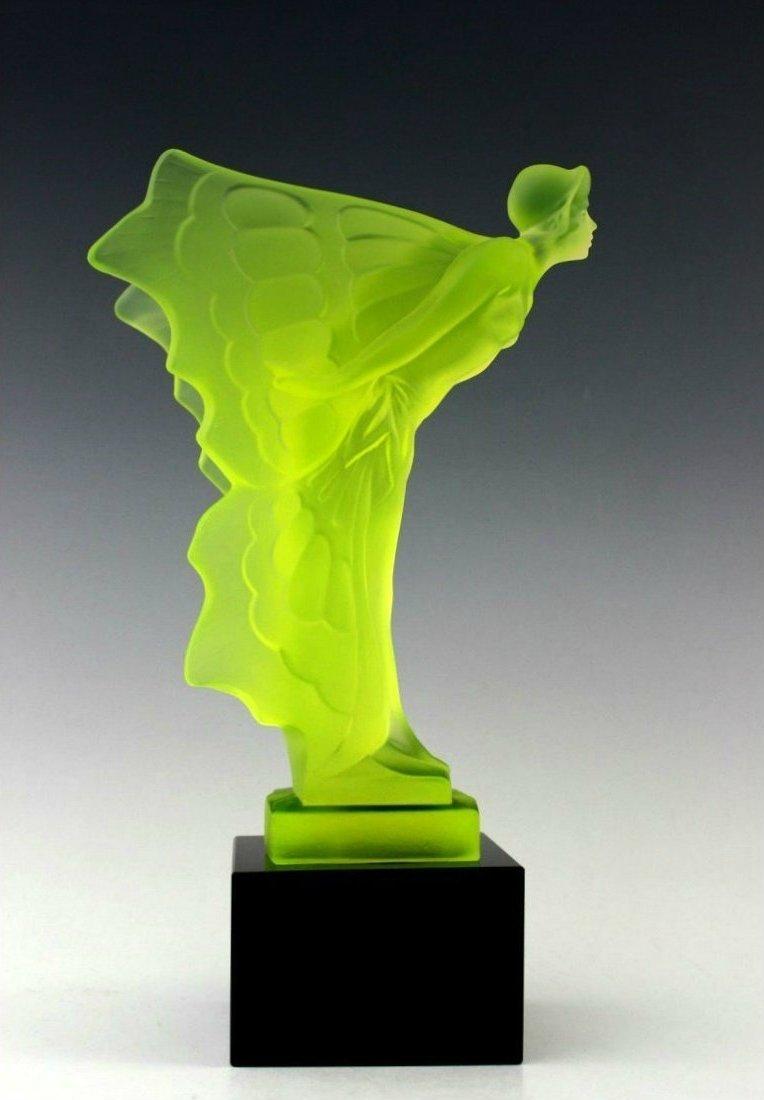 French Art Deco Glass / Butterfly Girl / Bohemia 1930