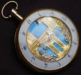 Pocket Watch With Music 18 Gold French Clock