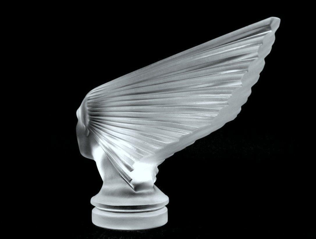 Glass Car Mascot / VICTOIRE / Art Deco 1930 / Bohemia - 5