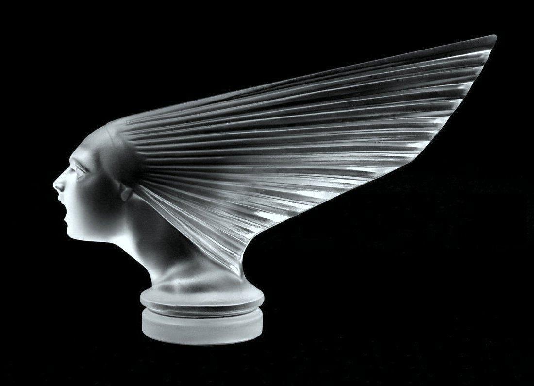 Glass Car Mascot / VICTOIRE / Art Deco 1930 / Bohemia - 6