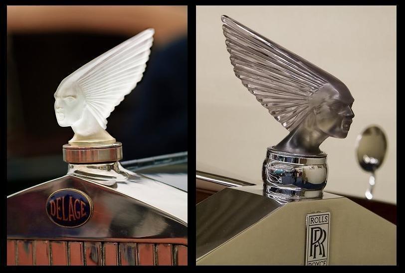Glass Car Mascot / VICTOIRE / Art Deco 1930 / Bohemia - 7