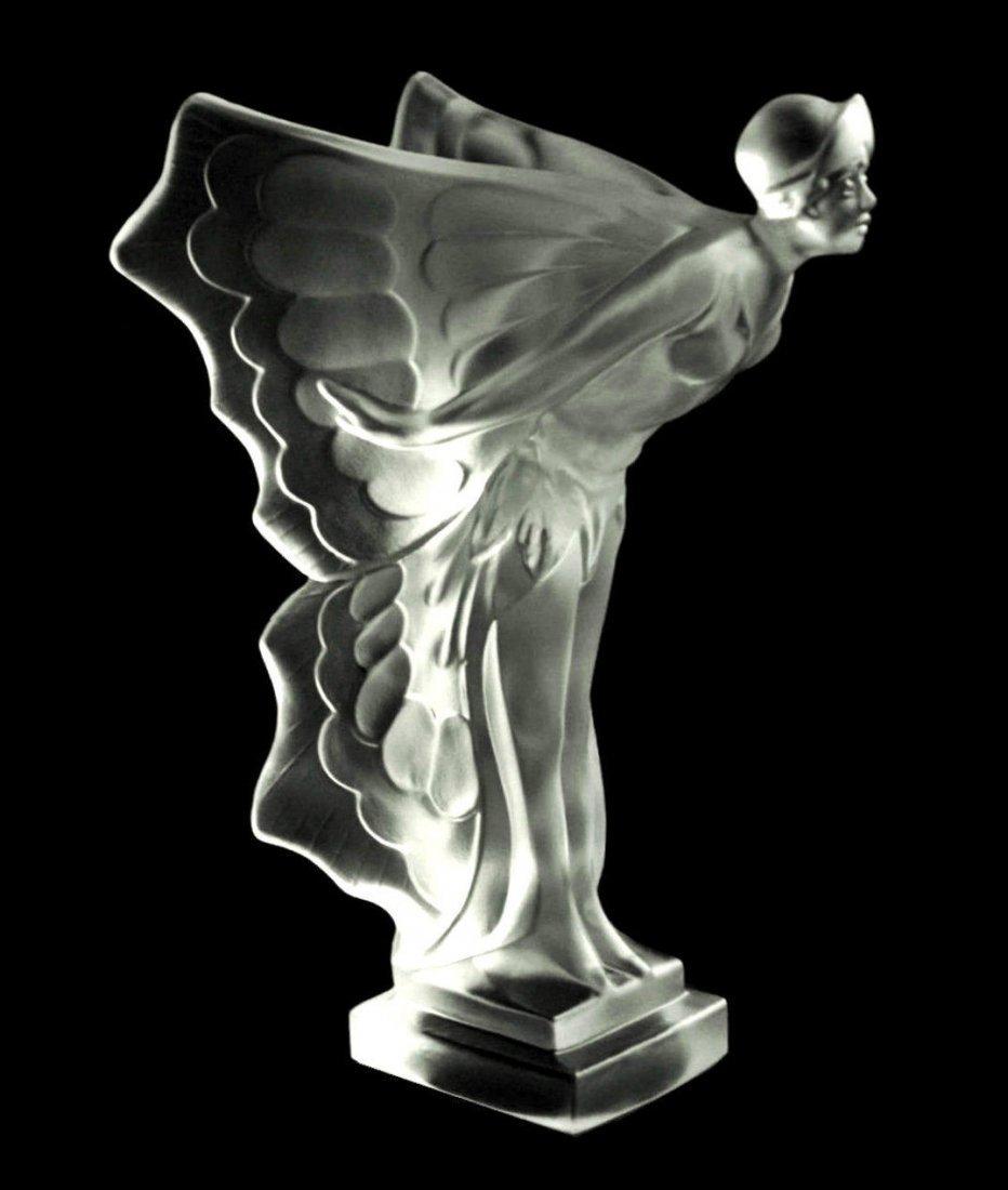 French Art Deco ' Butterfly ' Bohemia Glass Car Mascot - 2