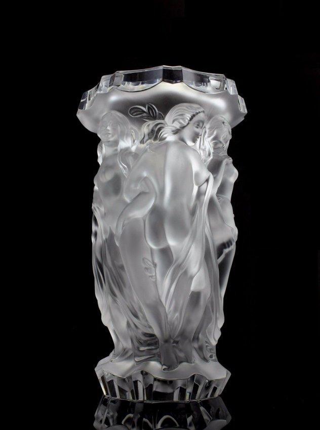 Glamorous French Art Deco/ Bohemian Glass Large Vase - 3