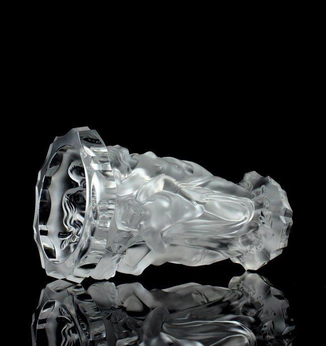 Glamorous French Art Deco/ Bohemian Glass Large Vase - 4