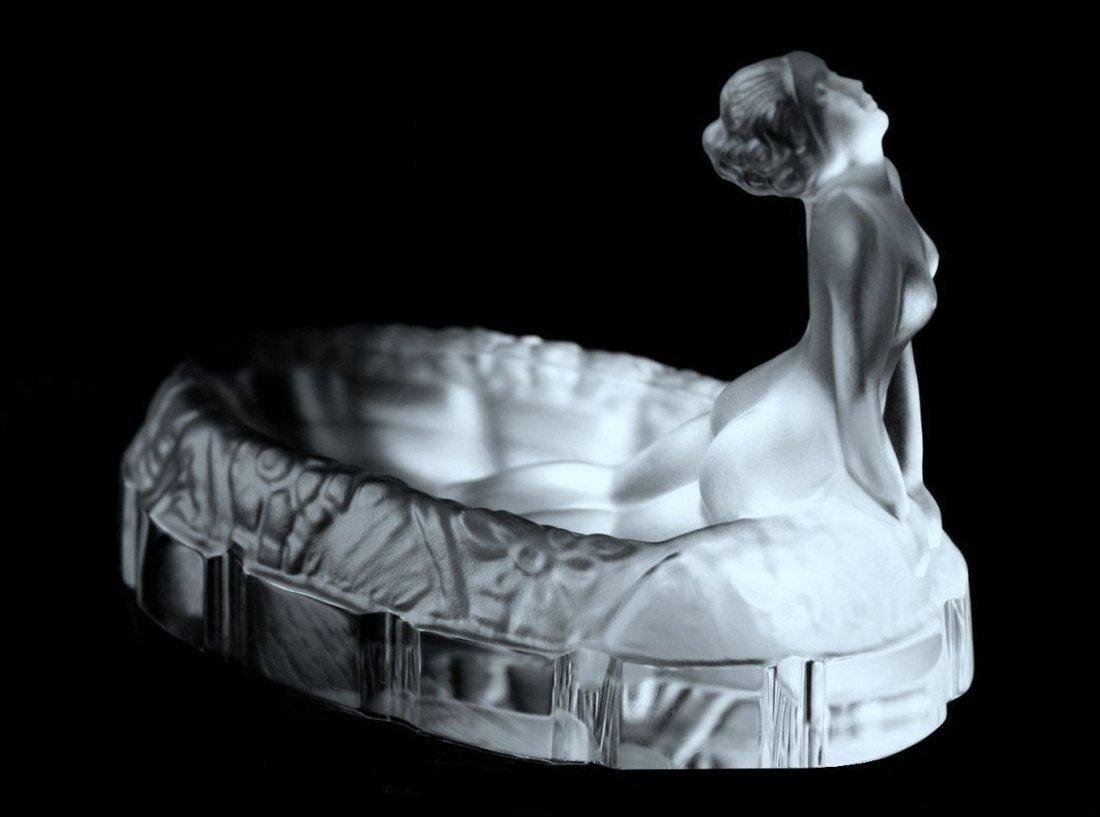 Bohemian Art Deco Susan at her Bath Glass Pin Dish