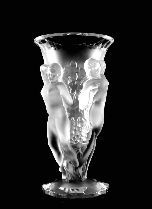 French Art Deco 1930 / Bohemian Glass Large Vase