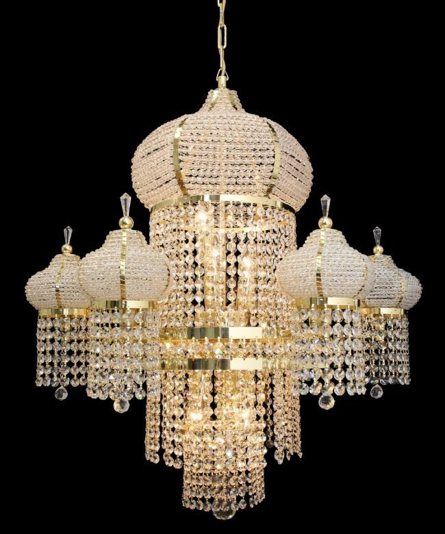 CRYSTAL GLASS CHANDELIER LAMP