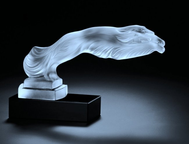 Greyhounds / Art Deco Glass