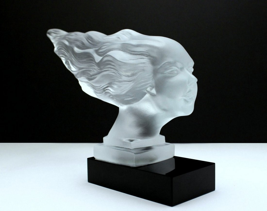 French Art Deco / Glass Statuette - 2