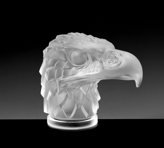 Art Deco Bohemian Glass Car Mascot ' Eagle '