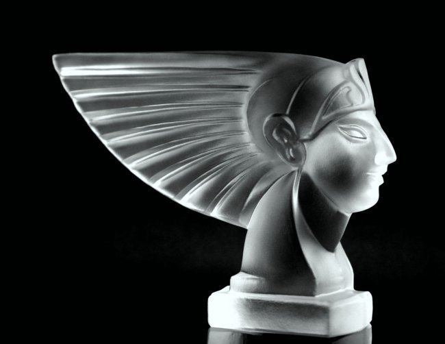 Art Deco 1930 / Bohemia Glass Car Mascot