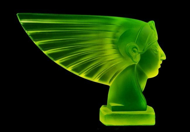 French Art Deco Bohemian Glass Car Mascot