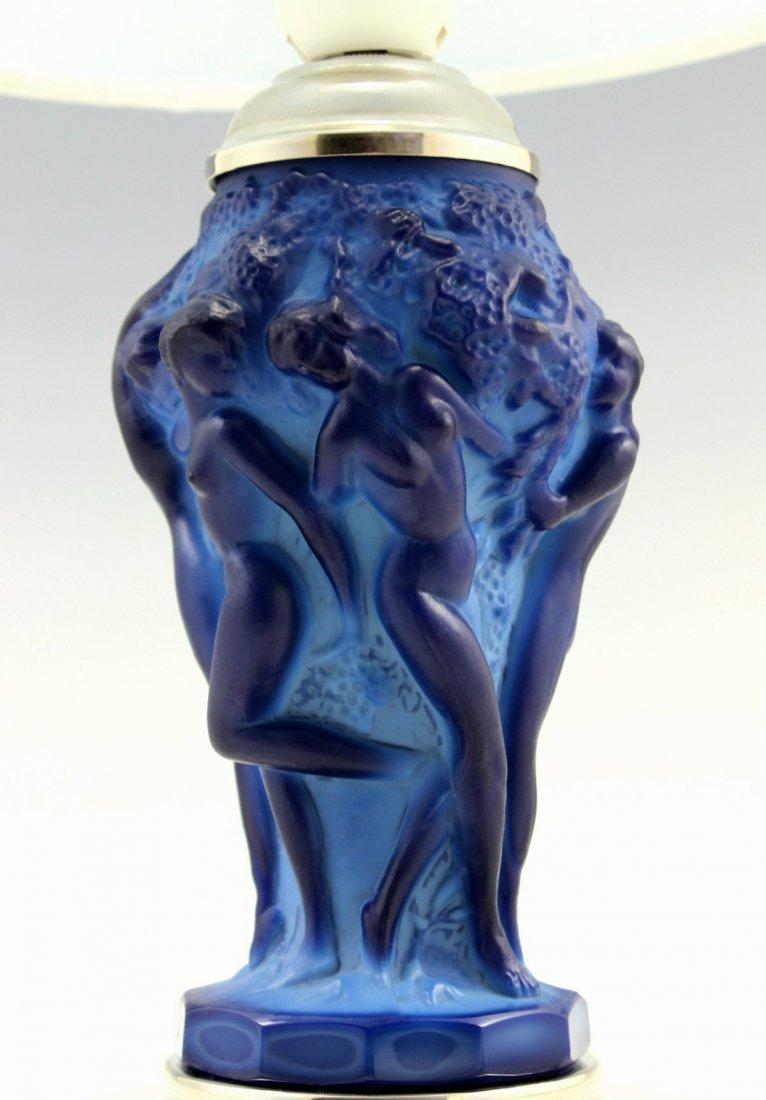 Art Deco Rare Lamp Bohemian Blue Malachite - 5