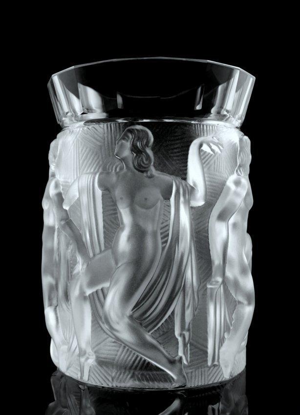 Art Deco Nude Glass Vase 1930's H. Hoffmann