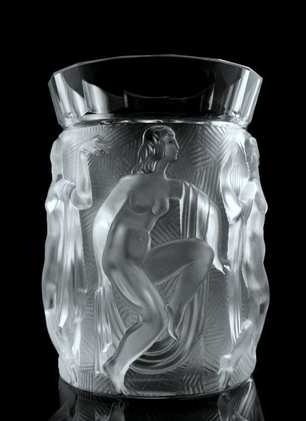 Art Deco Nude Glass Vase 1930's H. Hoffmann - 2