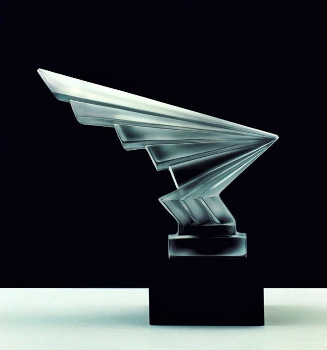 Art Deco Glass Car Mascot Sculpture