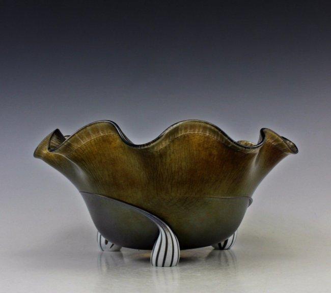 Art Nouveau Bohemian Glass Bowl