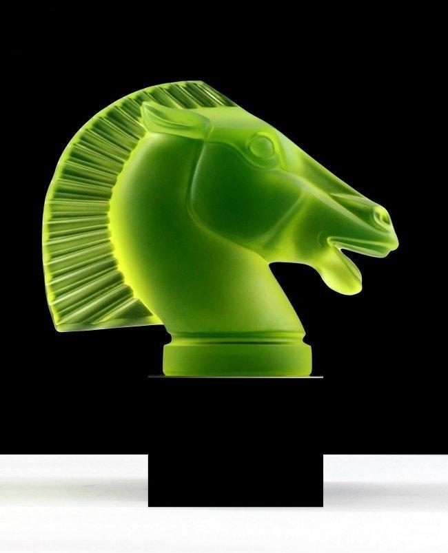 Art Deco Glass ' Longchamp ' Sculpture for Collectors