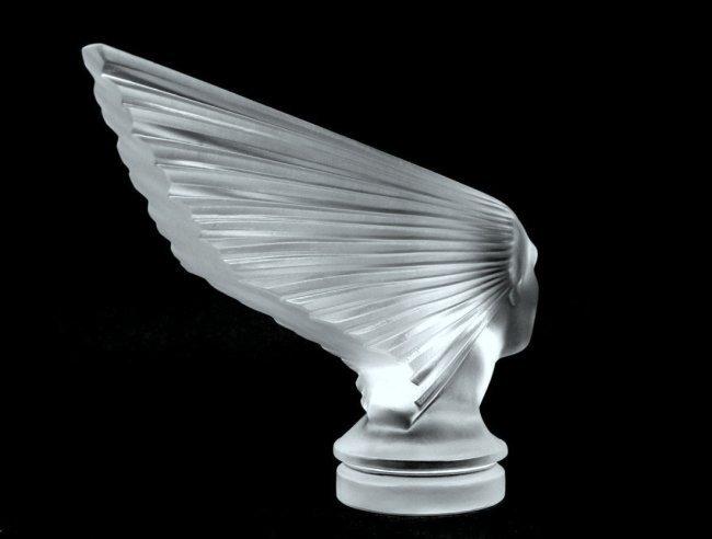 French Art Deco Glass Bohemian Car Mascot ' Victoire ' - 3