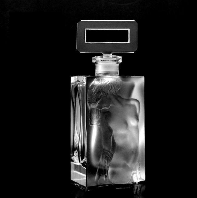 "Art Deco Ingrid Glass "" Nude Odalisque "" Perfume Bottle"