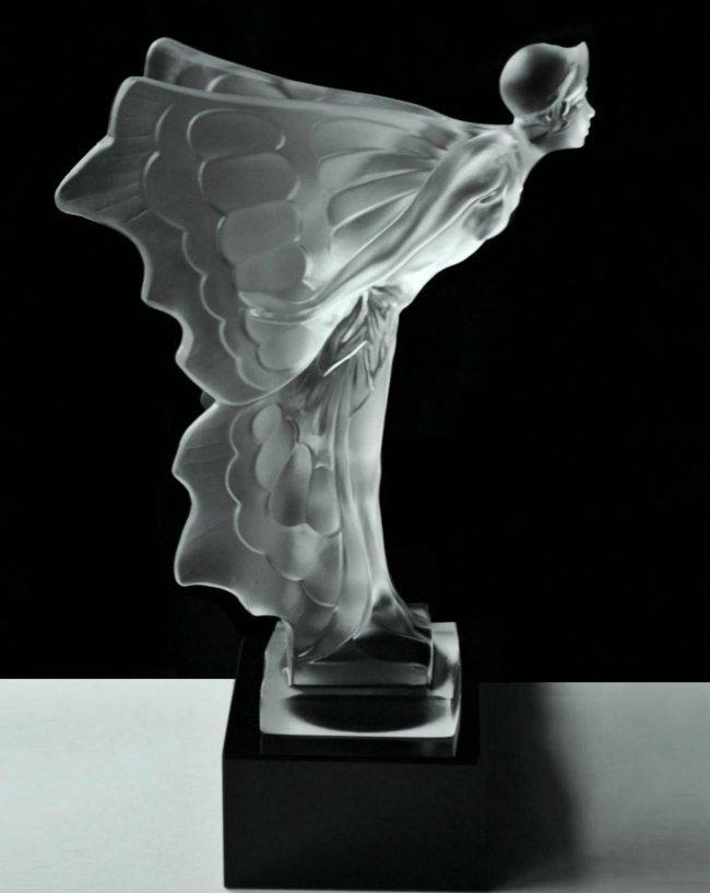 Art Deco Glass Car Mascot Rolls Royce Spirit of Ecstasy - 2