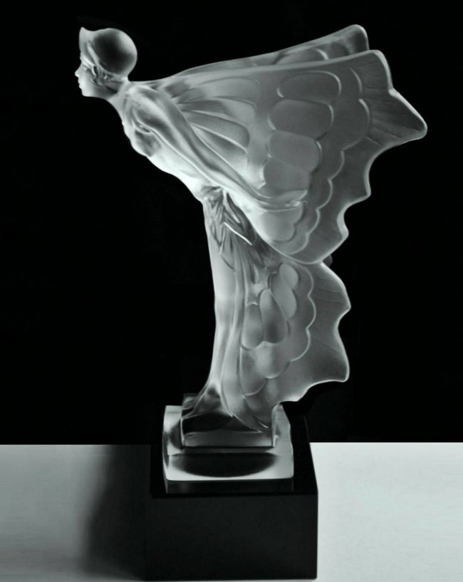 Art Deco Glass Car Mascot Rolls Royce Spirit of Ecstasy - 4