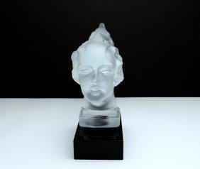 French Art Deco / Glass Statuette - 4
