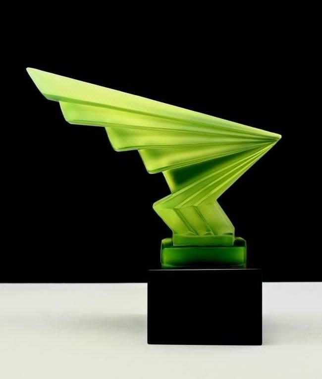 Art Deco Glass Car Mascot Sculpture for Collectors