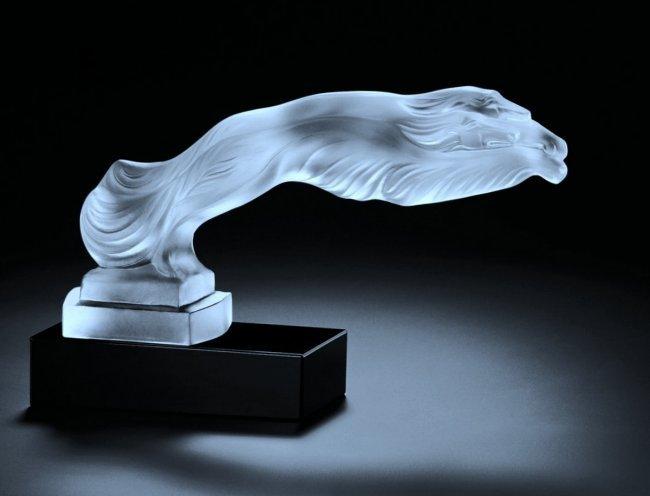 Art Deco Glass Sculpture Hood Ornament & Car Mascot