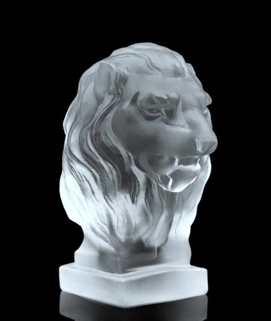 Art Deco Glass LION