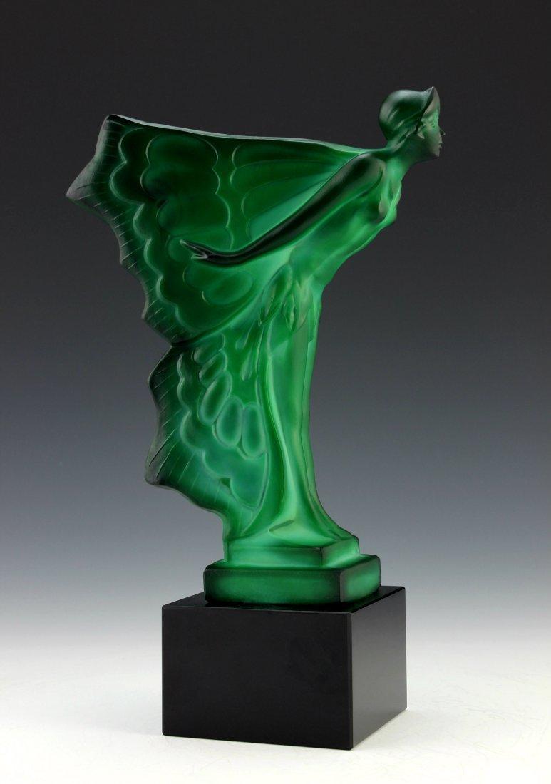 Art Deco Jade Sculpture Flying Lady