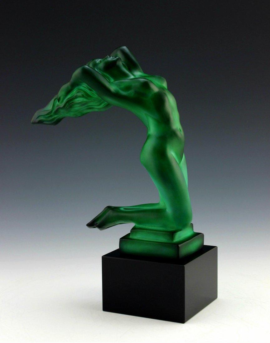 Art Deco Jade Sculpture Figurine ' Chrysis '