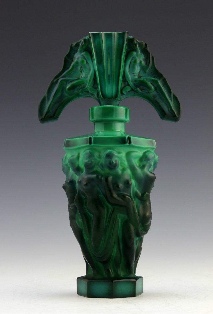 Antique Vintage Glass Art Deco Perfume