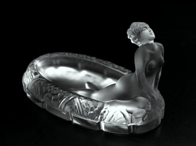 Art Deco Jewelry Box Glass Bowl 1930' H.Hoffmann