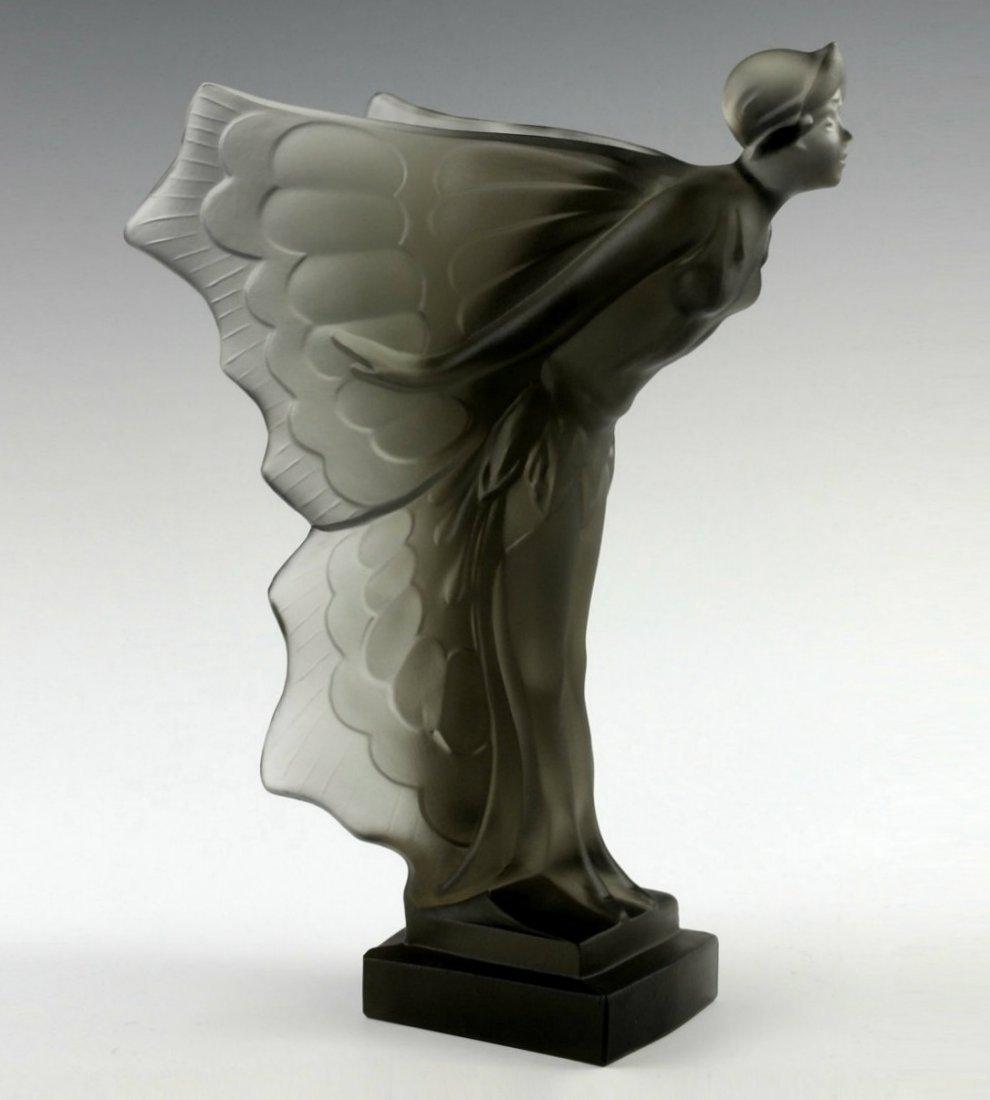 Art Deco 1930' Smoke Glass Nude Car Mascot H.Hoffmann