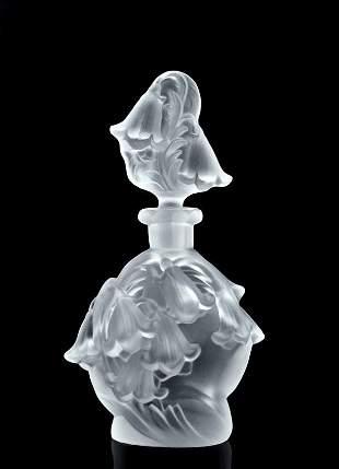 Art Deco 1930' Glass 'Bells' Perfume Bottle H.Hoffmann