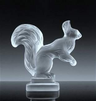 Art Deco Glass ' Squirrel ' Figurine H.Hoffmann 1930's