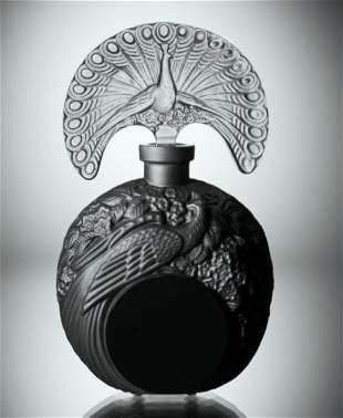 Art Deco 1930' Glass Large Perfume Bottle H.Hoffmann